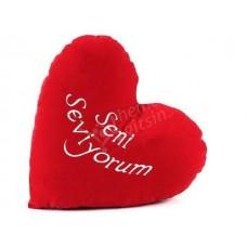 malatya Kalp şeklinde hediyelik yastık